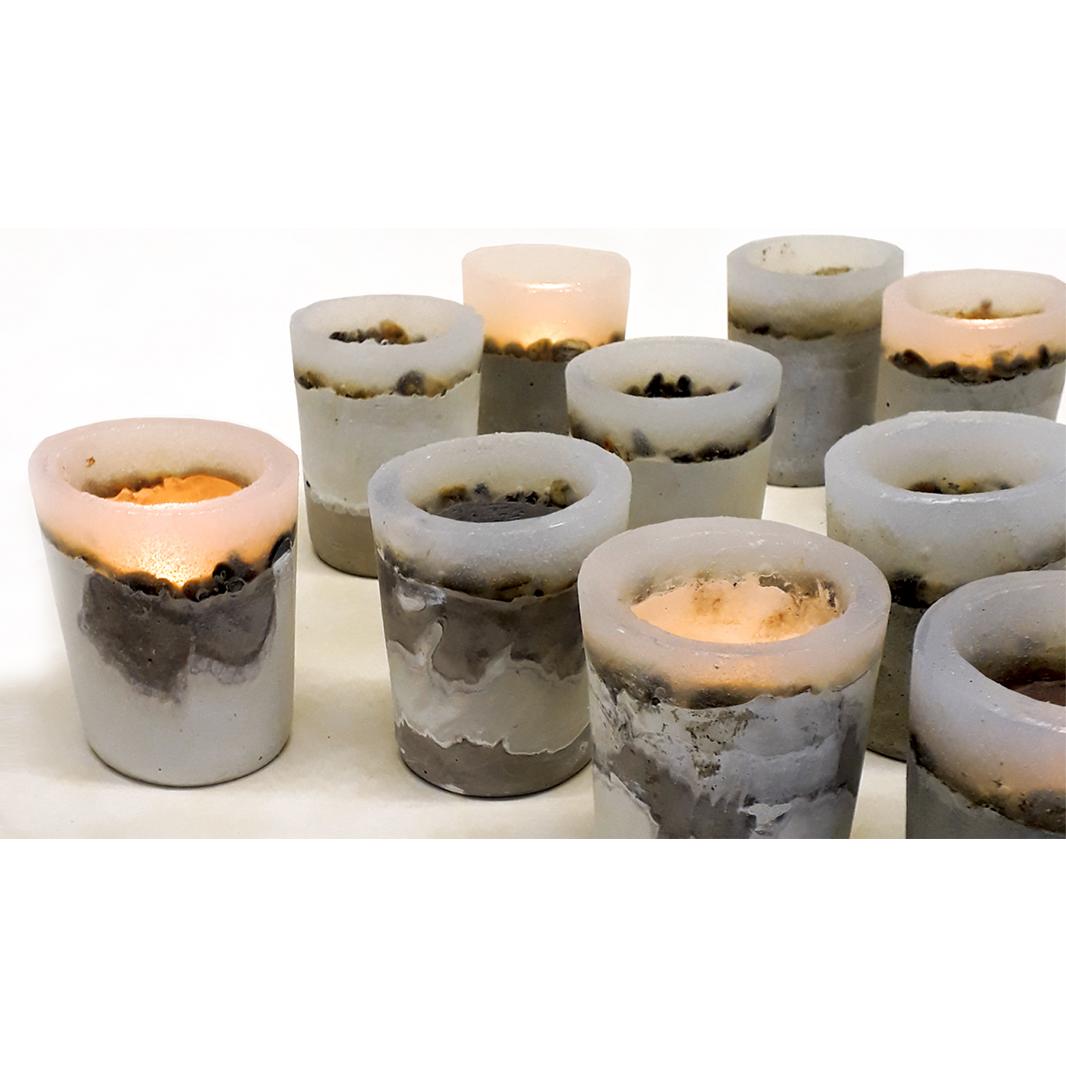 Renate Vos Concrete Candleholder - Renate Vos
