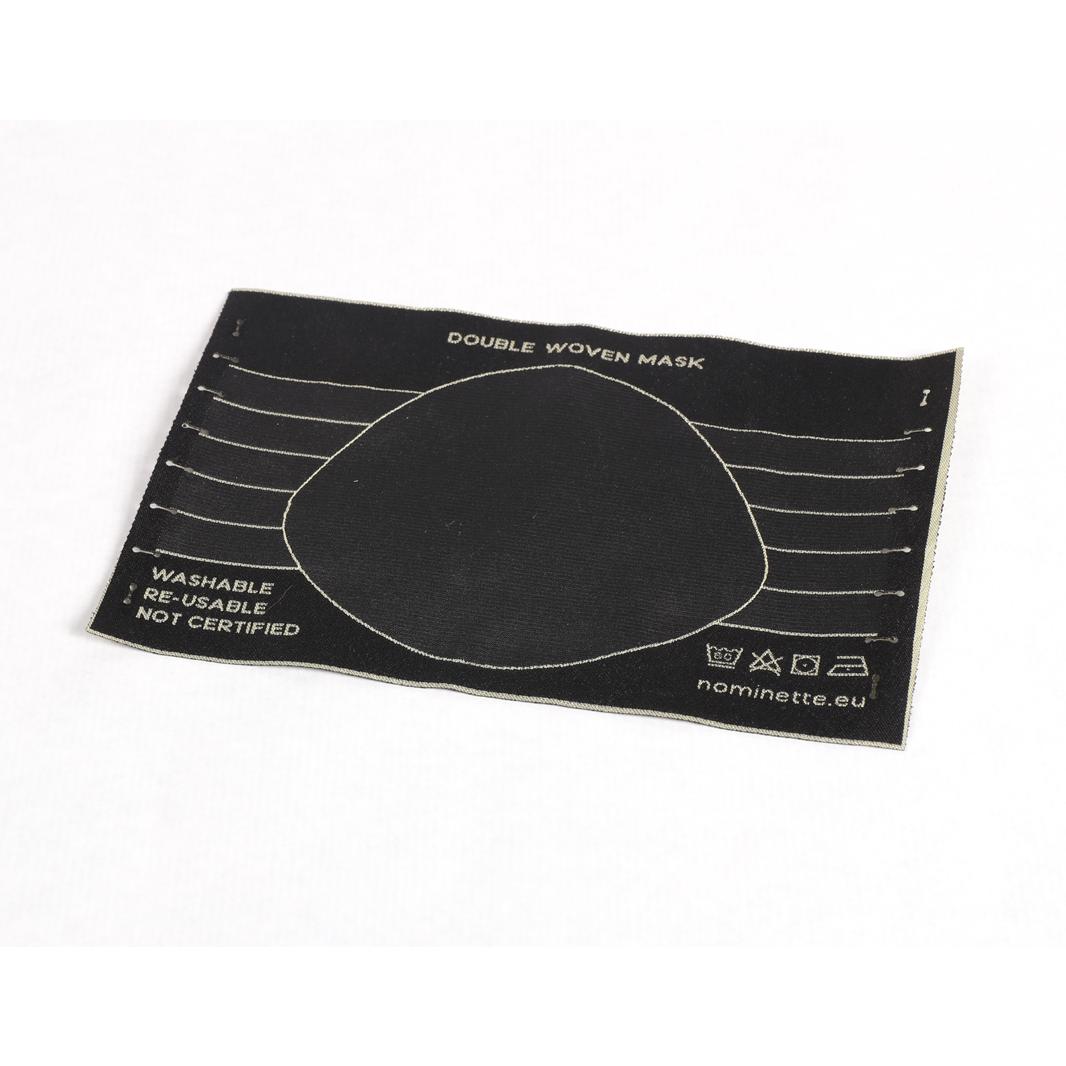 Nominette Mondkapje Zwart (set van 5) - EE Labels