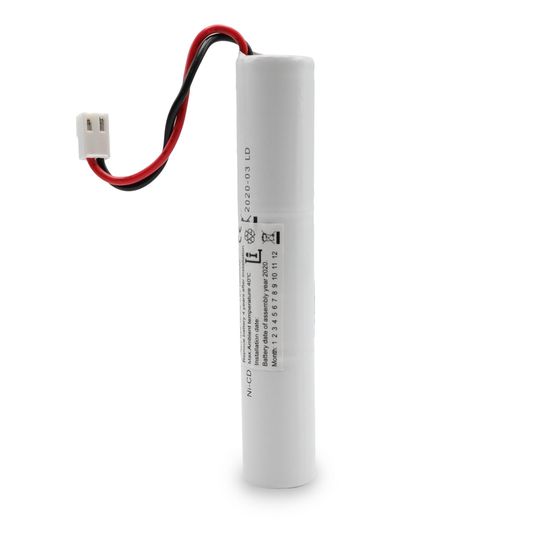 Batterier til nødbelysning og flugtvejsskilte