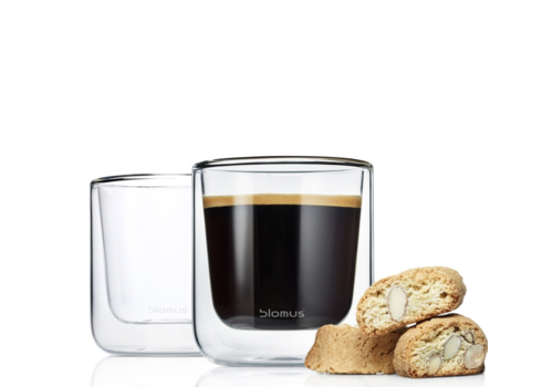 Blomus NERO Koffieglazen (set van 2)