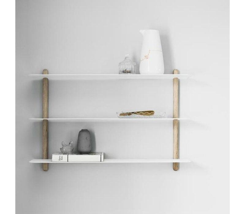 Nivo A shelf oak/white