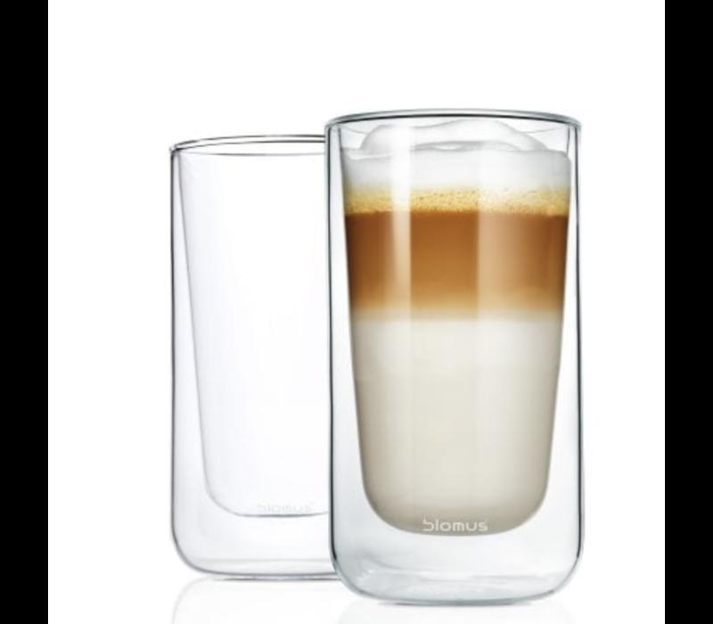 NERO Latte macchiatoglazen (set van 2)