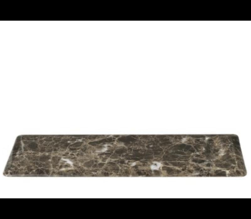 Marmeren serveerbord PESA - Donkerbruin