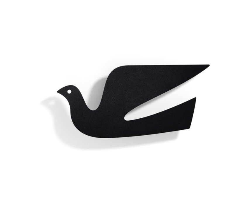 Metal Wall Relief Dove