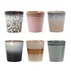 HKliving Ceramic 70's coffee mugs (6 stuks)