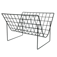 Metal wire magazine rack matt black