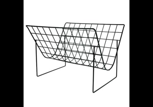HKliving Metal wire magazine rack matt black