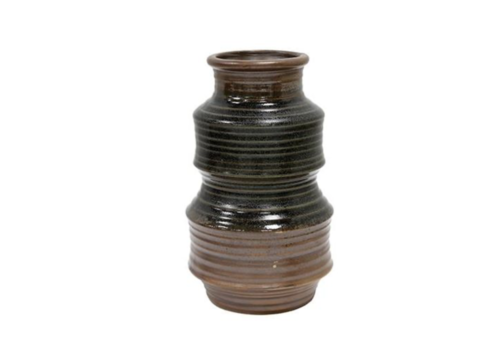 HKliving Ceramic flower vase retro brown