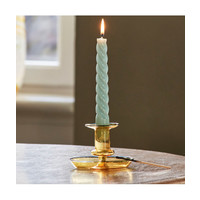 Twisted glossy candle