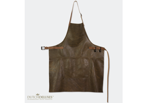 Dutchdeluxes Schort Vintage Leder BBQ Style