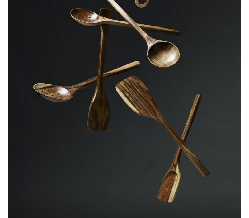 Wooden food tong