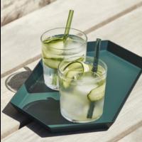 Sip cocktail glazen rietjes