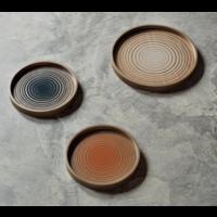 Valet Tray Cream Circles glass