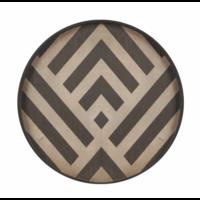 Valet tray -  Graphite Chevron - wood