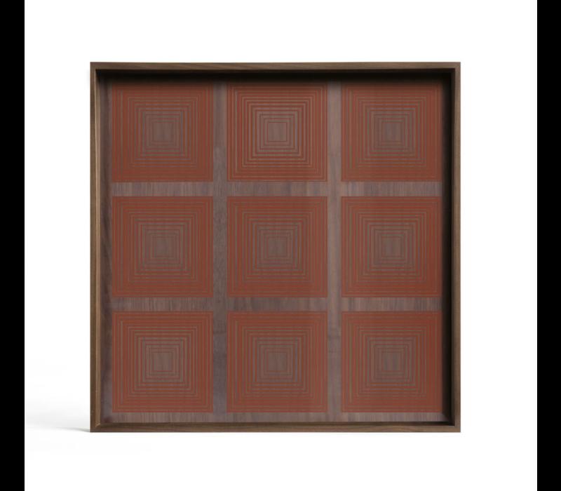Tray - Pumpkin Squares - glass small