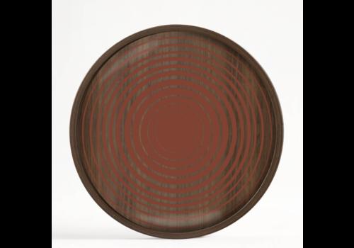 Ethnicraft Valet tray - Pumpkin Circles - glass