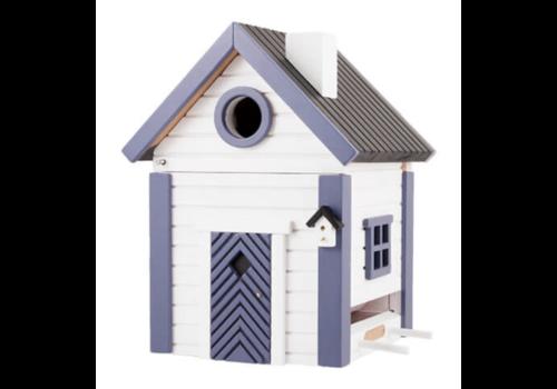 Multiholk Vogelhuisje - White & Blue Cottage