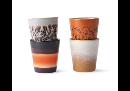HKliving 70s ceramics: ristretto mugs (set of 4)