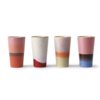 HKliving 70s ceramics: latte mugs (set of 4)