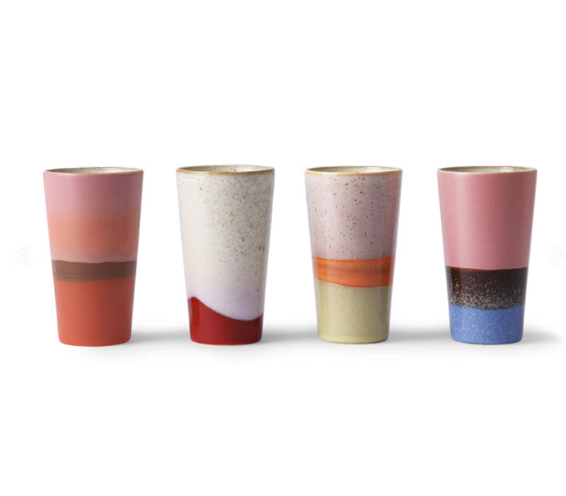 70s ceramics: latte mugs (set of 4)
