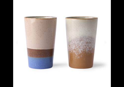 HKliving 70s ceramics: tea mugs (set of 2)