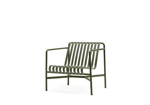 Hay Palissade Lounge Chair Olijfgroen