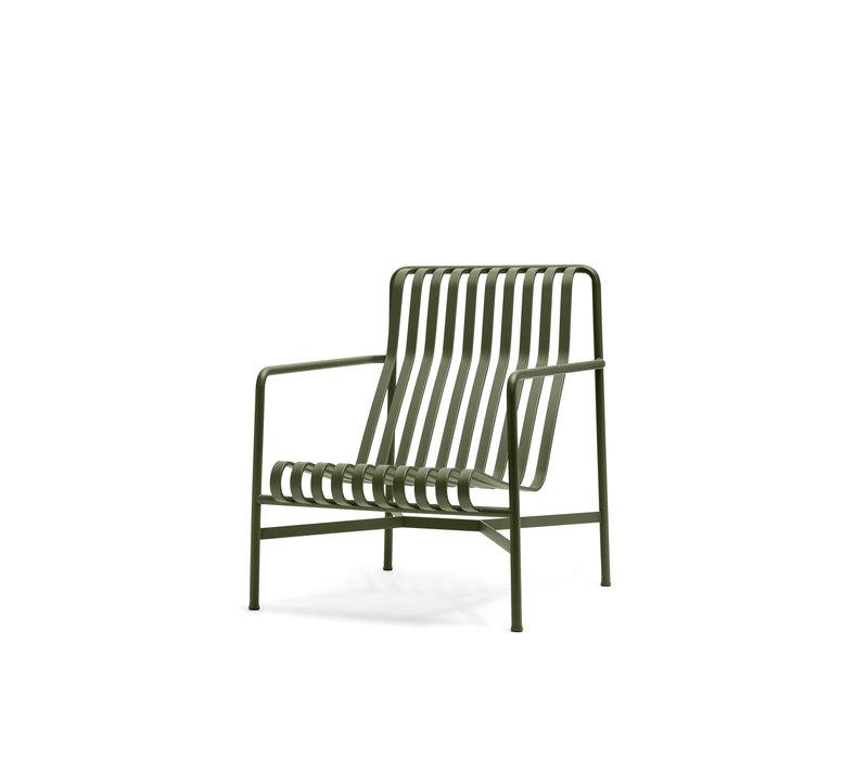 Palissade Lounge Chair Olijfgroen