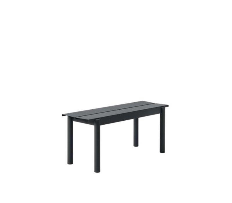 Linear Steel Bench Zwart
