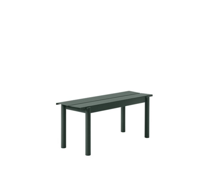 Linear Steel Bench Donkergroen