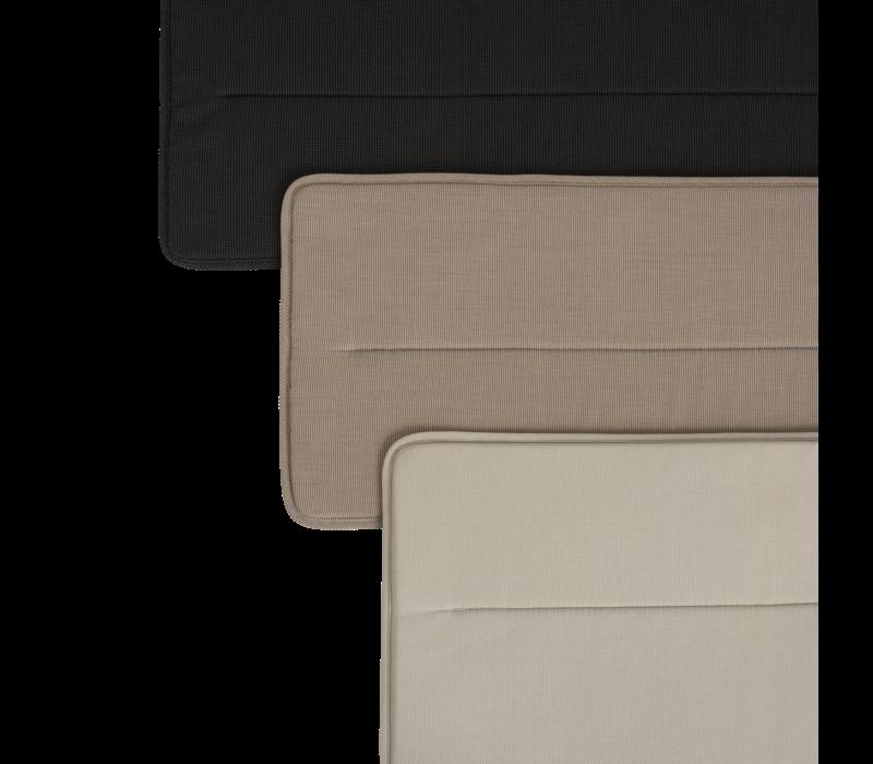Linear Steel Bench - Seat Pad Zwart