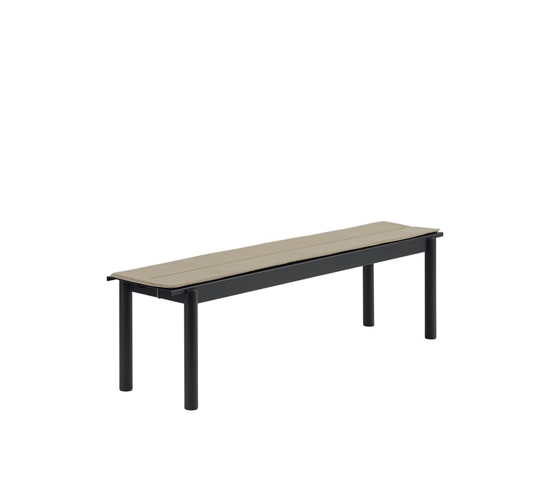 Linear Steel Bench - Seat Pad Warm Beige