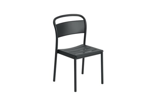 Muuto Linear Steel Side Chair Zwart