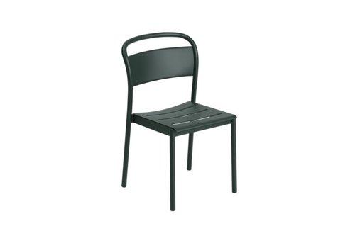 Muuto Linear Steel Side Chair Donkergroen
