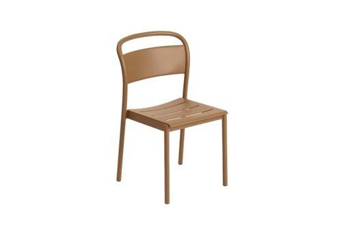 Muuto Linear Steel Side Chair Burnt Orange