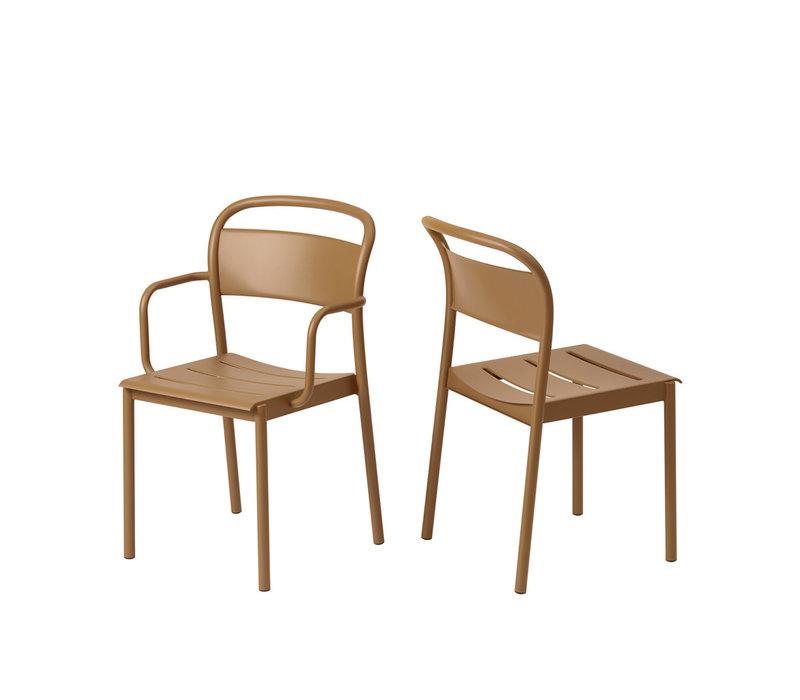 Linear Steel Side Chair Burnt Orange