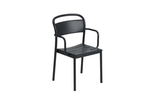 Muuto Linear Steel Armchair Zwart