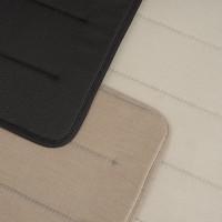 Linear Steel Chair - Seat Pad Zwart