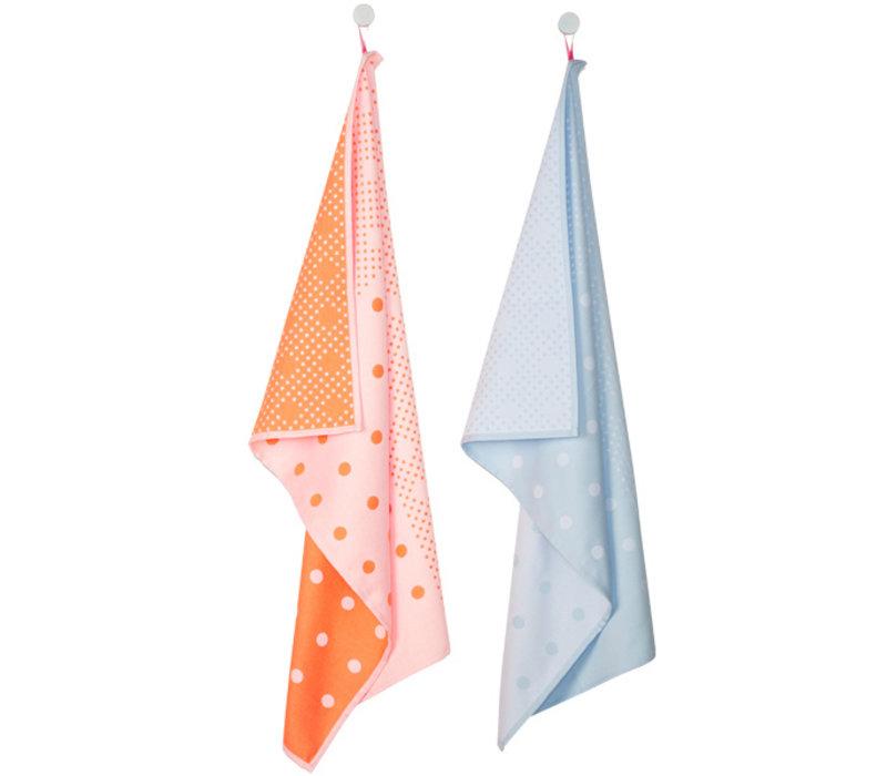 Tea Towels Dots 2pcs