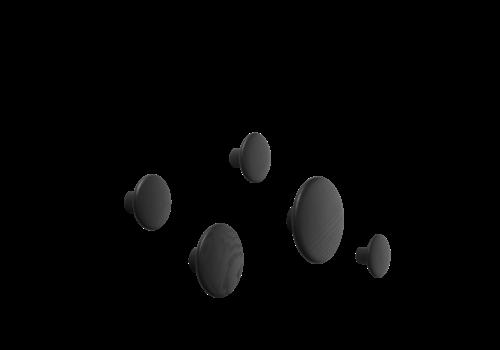 Muuto Dots Wood Black - Set of 5