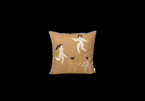 Ferm Living  Free Cushion - Bruin