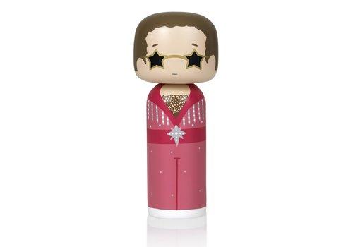 Lucie Kaas Kokeshi Doll Elton John - Pink