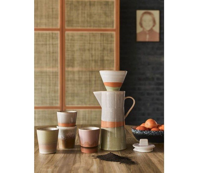 70's ceramic coffee pot