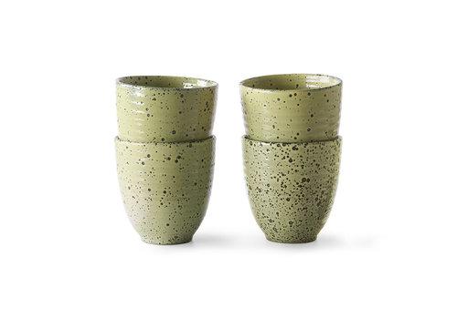 HKliving Gradient Ceramic - Mug yellow (4 stuks)