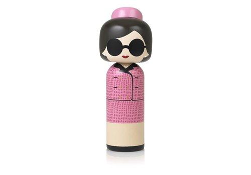 Lucie Kaas Kokeshi Doll Jackie Kennedy