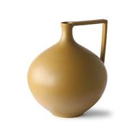 Ceramic Jar Large Mustard