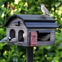 Vogelvoederbak - Multifeeder Barn Bruin