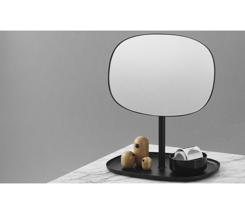 Flip Spiegel - Zwart