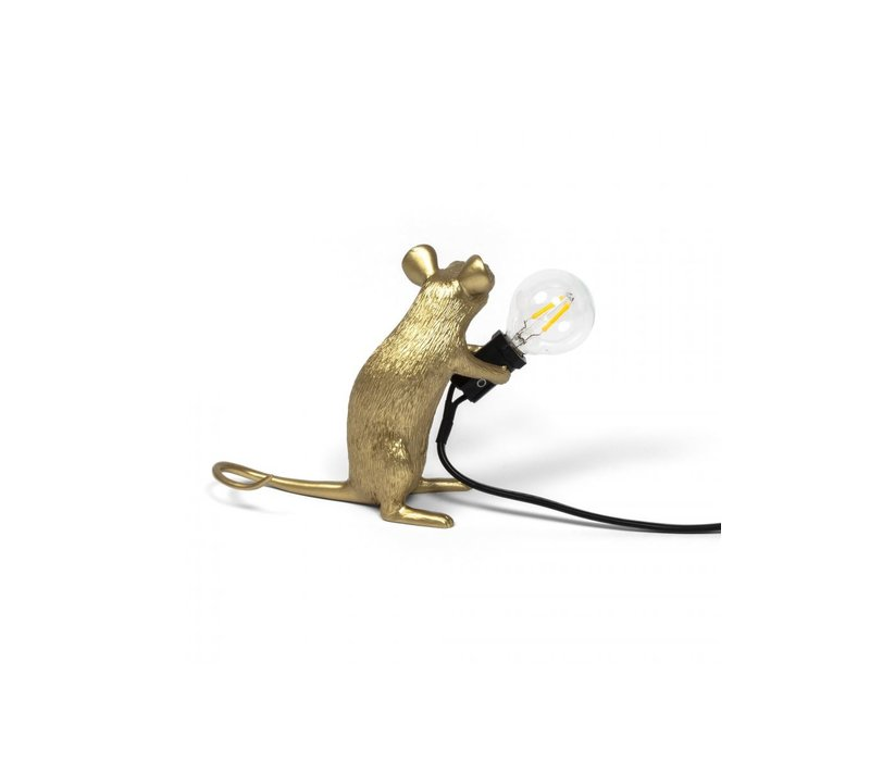 Mouse Lamp Sitting - Goud