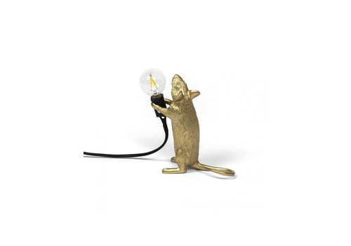 Seletti Mouse Lamp Standing - Goud