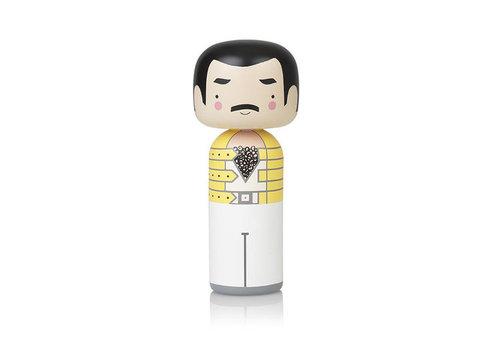 Lucie Kaas Kokeshi Doll Freddie Mercury